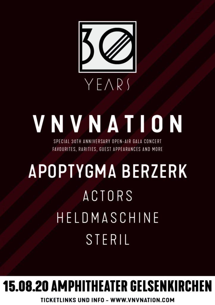VNV Nation 30 |Sa., 31.07.21